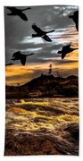 Night Flight Beach Towel by Bob Orsillo