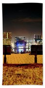 Night In The City Beach Towel