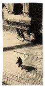 Night Shadows Beach Towel by Edward Hopper