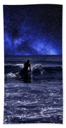Night Surfing Beach Towel