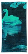 Night Swan L Beach Towel