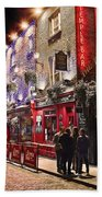 Nights In The Temple Bar Beach Towel