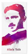 Nikola Tesla Patent Art Apparatus For Aerial Transportation  Beach Towel