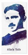 Nikola Tesla Patent Art Electric Arc Lamp Beach Towel