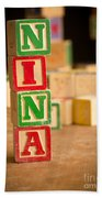 Nina - Alphabet Blocks Beach Towel