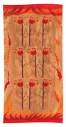 Nine Of Wands Beach Towel