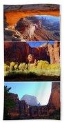 Nine Utah Landmarks Beach Towel by Catherine Sherman