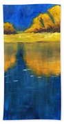 Nisqually Reflection Beach Towel by Nancy Merkle