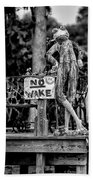 No Wake - Bw Beach Towel
