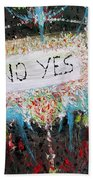No Yes Beach Towel