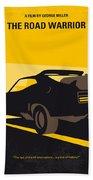 No051 My Mad Max 2 Road Warrior Minimal Movie Poster Beach Towel