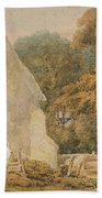 No.0735 A Country Churchyard, C.1797-98 Beach Towel