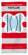 No098 My Papillon Minimal Movie Poster Beach Towel