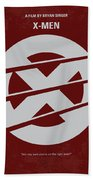No123 My Xmen Minimal Movie Poster Beach Towel