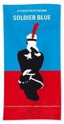 No136 My Soldier Blue Minimal Movie Poster Beach Sheet