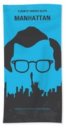 No146 My Manhattan Minimal Movie Poster Beach Towel by Chungkong Art