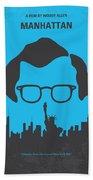 No146 My Manhattan Minimal Movie Poster Beach Sheet
