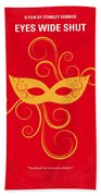 No164 My Eyes Wide Shut Minimal Movie Poster Beach Towel