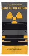 No183 My Back To The Future Minimal Movie Poster Beach Towel