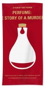 No194 My Perfume The Story Of A Murderer Minimal Movie Poster Beach Towel by Chungkong Art