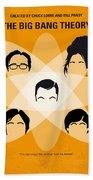 No196 My The Big Bang Theory Minimal Poster Beach Towel by Chungkong Art