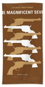 No197 My The Magnificent Seven Minimal Movie Poster Beach Towel by Chungkong Art