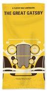 No206 My The Great Gatsby Minimal Movie Poster Beach Towel by Chungkong Art