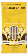 No206 My The Great Gatsby Minimal Movie Poster Beach Towel