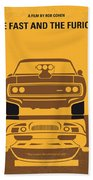 No207 My The Fast And The Furious Minimal Movie Poster Beach Towel by Chungkong Art