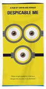 No213 My Despicable Me Minimal Movie Poster Beach Towel