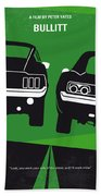 No214 My Bullitt Minimal Movie Poster Beach Towel