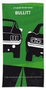 No214 My Bullitt Minimal Movie Poster Beach Sheet