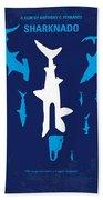 No216 My Sharknado Minimal Movie Poster Beach Towel