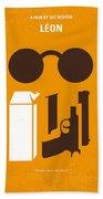 No239 My Leon Minimal Movie Poster Beach Sheet