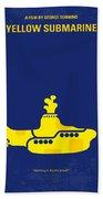 No257 My Yellow Submarine Minimal Movie Poster Beach Towel