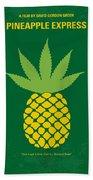 No264 My Pineapple Express Minimal Movie Poster Beach Towel by Chungkong Art