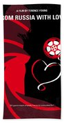No277-007 My From Russia With Love Minimal Movie Poster Beach Towel