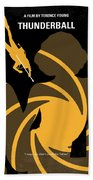 No277-007 My Thunderball Minimal Movie Poster Beach Towel