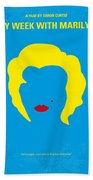 No284 My Week With Marilyn Minimal Movie Poster Beach Towel