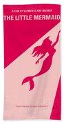 No314 My Mermaid Minimal Movie Poster Beach Towel