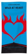 No337 My Wild At Heart Minimal Movie Poster Beach Towel