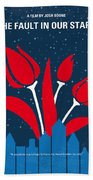 No340 My The Fault In Our Stars Minimal Movie Poster Beach Towel