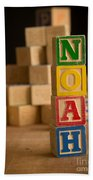 Noah - Alphabet Blocks Beach Towel