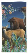 Nocturnal Cantata Beach Towel by James W Johnson