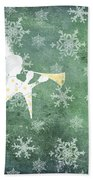 Noel Christmas Card Beach Towel