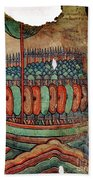 Norman Soldiers 11th Century Beach Towel