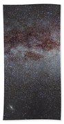 North America Nebula The Milky Way From Cygnus To Perseus And Andromeda Galaxy Beach Towel