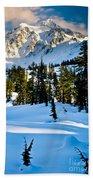 North Cascades Winter Beach Towel