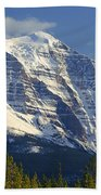 1m3549-north Face Of Mt. Temple Beach Towel
