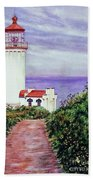 North Head Light House On The Washington Coast Beach Towel